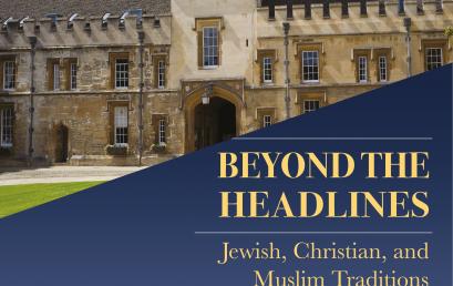 Three Faiths Week- Oxford 9-15 April 2018