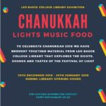 LBC Library Exhibition: Chanukkah – Lights Music Food!